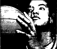 Picture of Diana Spencer, 6-foot junior basketball player for Fayetteville-Manlius High School near Syracuuse, N.Y. From Syracuse Post-Standard file photo, December 30, 1997, by Peter Chen 1996.