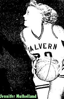 Jennifer Mulholland, Malvern Pantherette, in uncredited action photo of a 71 to 72 loss to the Treynor High Cardinalettes on Dec. 10, 1986, in which she scored 30 points. From The Malvern Leader, Malvern, Iowa, December 11, 1986.