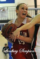 Uncredited photo of Lindsay Simpson, Franklin Panther basketball player. From Asheville Citizen-Times.com.