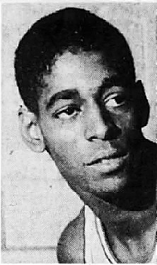Portrait of Jerome Smith, basketball player for the Hamilton Watch team. Frim the Daily Intelligencer Journal, Lancaster, Pennsylvania, March 15, 1966.