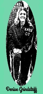 Image of Texas girls basketball player, Denise Grindstaff, of Knox City High School. From The Abilene Reporter-News, Abilene, Texas, February 15, 1973. Cropped from team photo by Don Blakley..