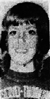 Portrait of girls basketball player, Sherry Koenen, Meservey-Thornton High School, Iowa. From the Globe-Gazette, Mason City, Iowa, December 12, 1973.