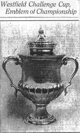 Westfield Challenge Cup, Emblem of Championship. From The Daily Review, April 4, 1925.