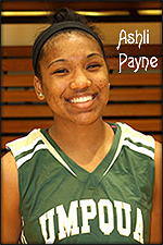 Ashli Payne, Umpqua Community College freshman basketball player, 2013-14.