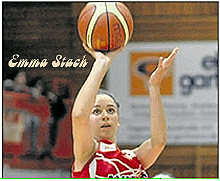 Image of Emma Stach, shooting for BG 89 Hurricanes in January, 2012.