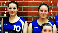 Julia and Janina Ernst, sister basketball players on the TSV Sch鰊au Under 17 basketball team, 2012-13, Germany.