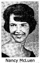 Image of Nancy McLuen, ANita High School MVP Athlete of year, from The Anita Tribune, Anita, Iowa, June 4, 1964