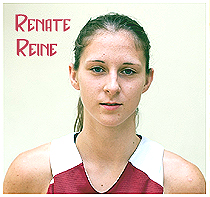 Image of Renate Reine, Latvian female basketball player who scored 61 points in one game. Photo by Eriks Biters.