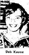 Dec. 1970 picture of Deb Kaune, West Central basketball player.
