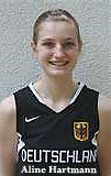 Image of Aline Hartmann, U-14 player for Don Bosco Bamberg, following selection to U16 German National team, 2009.