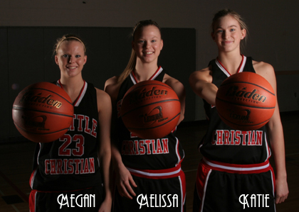 Megan, Melissa & Katie Collier, Seattle Christian High School basketball players