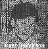 Picture of Babe Didrickson from The Schenectady Gazette, Schectadym N.Y., December 14, 1932