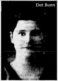 Photo of Dorothy (Dot) Bunn, Waresboro High basketball player, fromThe Waycross Journal-Herald (Georgia), February 24, 1986.