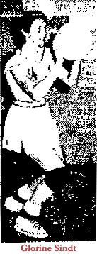 Picture of Glorine Sindt, Van Horne High basketball player. From The Cedar Rapids Gazette, January 27, 1957.