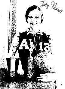 Jody Barrett, Armstrong Community High School (Iowa) basketball player. From the Estherville Daily News, March 12, 1970.