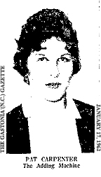 Picture of Pat Carpenter, Tryon High School basketball player (North Carolina). From The Gastonia Gazette, January 17, 1962.