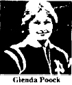 Glenda Poock, William Penn University basketball player, picture from The Oelwein Daily Register, Oelwein, Iowa, February 1, 1979.