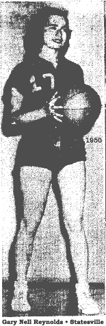 Picture of Gary Nell Reynolds, All-State guard, Statesville High School Greyhounds girls' basketball team, from The Statesville Daily Record (North Carolina), March 20, 1950