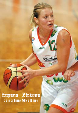 Zuzana Žirková, vetran of the Gambrinus Sika Brno Czech women's basketball team during their 256 game winning streak.