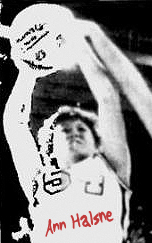 Picture of Ann Halsne, Spencer Tigerette basketball player, shooting basketball, from early in her career. From The Daily Reporter, Spencer, Iowa, December 8, 1983.