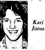 Picture of Kari Jones, Pratt Skyline High (KAnsas) basketball player after she scored 60 points in a game. From The Huychinson News, February 16, 1977.