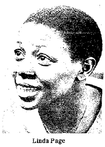 Linda Page, Dobbins Tech (Philadelphia), who scored 100 points in a 131-38 win over Mastbaum High on 2/13/1981. Picture from The New Mexican, Santa Fe, New Mexico, February 15, 1981