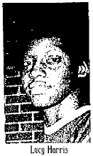 Picture of Lusia (Lucy) Harris, Delta State basketball player. From the Delta Democrat-Times, Greenville, Mississippi, December 22, 1975, following her 58 point game.