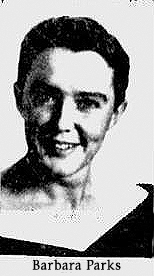 Portrait photo of Barbara Parks, Central High basketball player. From The Dispatch, Lexington, North Carolina, March 23, 1959