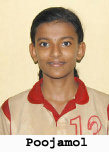 Picture of 12-year old K.S. Poojamol, who scored 56 points for Kottayam, in the (Kerala Basketball Association) Kerala State girl's sub-junior championship game, a 62 to 67 loss to Ernakulam, April 2009. A player can only play for three quarters of any game in a sub-regional.
