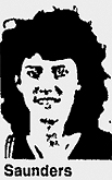 Image of Danielle Saunders, Forest High basketball player. From the Ocala Star-Banner, January 19, 1988, Ocala, Florida.