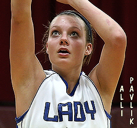 Alli Pavlik, Lakeview Lady Bulldog, shooting a foul shot.