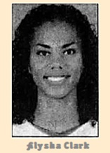 Portrait of Alysha Clark, Middle Tennessee college basketball player. From The Daily News-Journal, February 12, 2009, Mufreesboro, Tennessee.