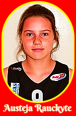 Portrait image of Austeja Rauckyte, Lithuanian girls basketball player for Panevezio KKSC (Lithuania), playing in the 'Children's Championships, 2017-18.