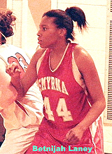 Betnijah Laney, #44, Smyrna High (Delaware), in action.