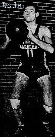"""Big Jim"" Murdaugh, Freed-Hardeman Junior College, #11, posing shooting a set-shot."