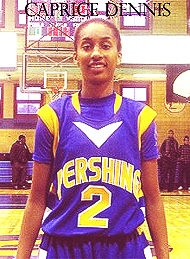 Caprice Dennis, Pershing Jihj (Michigan), #2, in a blue uniform.
