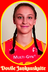 Portrait image of Dovile Jankauskaite, Lithuanian girls basketball player for V.Knasiaus KM I 2016-17 U16 team.
