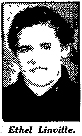 Picture of Ethel Linville, Collinwood High basketball star (Tennessee). From The Sheboygan Press, May 2, 1936.