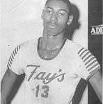 Wilt Chamberlain in his Quakertown Fay's uniform
