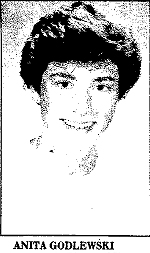 Picture of Anota Godlewski, Loraine Catholic (Ohio) basketball player. From The Chronicle Telegram, Elyria, Ohio, March 21, 1987.
