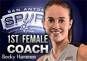 "Becky Hammon, ""1st Woman Coach"" San Antonio Spurs."