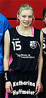 Image of Katharina Hoffmeier, girls basketball player for TuS Bad Essen in the U13w District League South for Weser-Ems District. Standing in uniform number 15, from team picture.