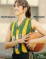 Photo of Hortencia Marcari, Brazilian National Women's Basketball team star. Foto: J.R. Duran, Playboy Brazil, December 1988.