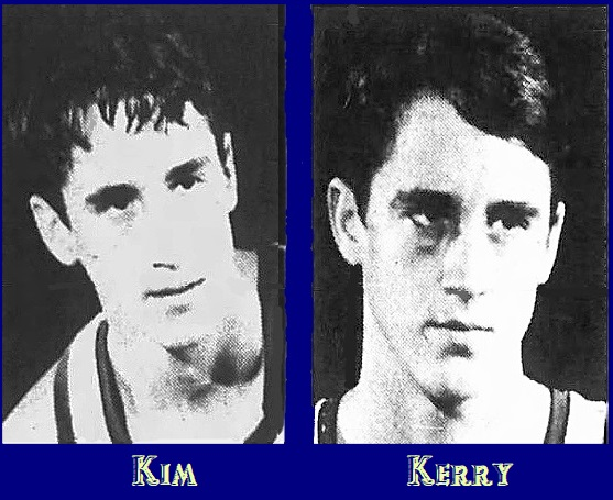 Images of Kim and Kerry Hughes, University of Wisconsin basketball players, Kim on left, Kerry on right. From The Daily Chronicle, De Kalb, Illinois, February 28, 1974..