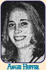 Portrait image of Angie Hupfer, women's basketball player for St. Joseph's College, Indiana, 1998-99. From the Journal and Courier, Lafayette, Indiana, Feb. 1, 1999.