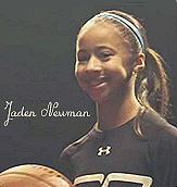 Jaden NEwman, ten-year old varsity basketball player at Downey Christian high school, Orlando, Florida.