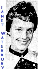 Portrait image of Janet Waterbury, Schaller High School (Iowa) girls basketball player. From the Des Moines Tribune, January 28, 1963