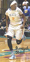 Kamiyah Street, number 2, Mays High School (Georgia) girls basketball player, running upcourt.