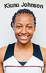 Portrait of Kiana Johnson, women's basketball player for Virginia Union University.