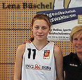 Lena Büschel, number 11 on the Team Dessau-Roßlau 1 team, Science City Jena U14 (boys team) basketball player.